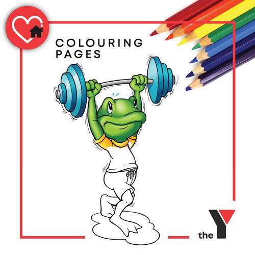 Fitness Philbert Colouring In Activity