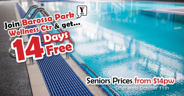 Get 14 Days Free at Barossa Park Wellness Ctr